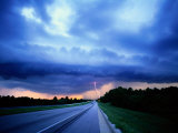 Lightning over the Bee Line Expressway  East of Orlando