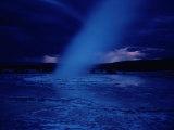 A Moonlit Geyser Erupts