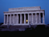 A View of the Lincoln Memorial at Dawn