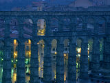 Twilight View of the Roman Aqueduct in Segovia