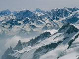 A View of the Swiss Alps from Col Du Chardonnet  Mount Blanc Region