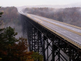 View of the Bridge Spanning the New River Gorge in West Virginia