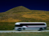 Panned View of a Bus on Interstate 15