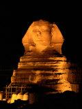 The Great Sphinx Illuminated at Night
