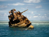 Shipwreck on Tubbataha Reef