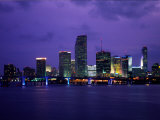 Twilight View of the Miami Skyline