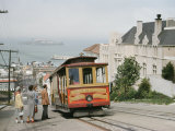 View of a Cable Car on Hyde Street in San Francisco