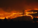 View of a Forest Fire Near Boise  Idaho in 1996