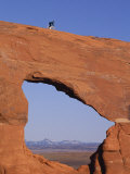 Cyclist on Natural Arch