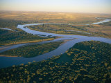 Aerial View of the Confluence of the Yellowstone and Missouri Rivers