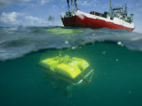 An Unmanned Submersible Conducts Research in the Black Sea