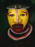 Close View of a Huli Wigmens Face