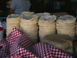 Tortillas Sold at an Outdoor Stand