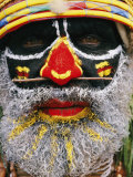 Close View of a Tribesmans Face