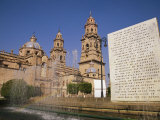 Cathedral of Morelia  Mexicop; Morelia  Capital of Michoacan  is a Colonial City Founded in 1514