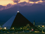 View of the Luxor Hotel at Dusk