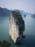Karst Limestone Tower in Halong Bay  Vietnam