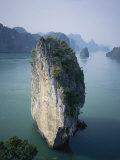 Karst Limestone Tower in Halong Bay  Vietnam