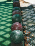Wooden Balls That are Bowled in the Italian Game of Bocce
