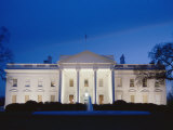 White House Facade at Twilight