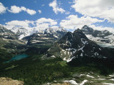 A Scenic View of Snow-Capped Rocky Mountains in Yoho National Park