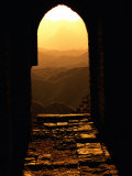 Sunlight Streams Through a Doorway in the Great Wall
