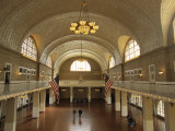 A View of the Great Hall on Ellis Island