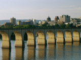 Downtown Harrisburg and Walnut Street Bridge