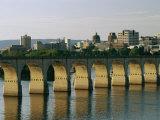 Downtown Harrisburg and Walnut Street Bridge
