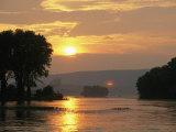Sunset over the Susquehanna River Near Halifax  Pennsylvania