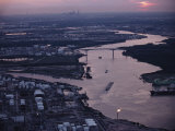 Aerial View of Houston Taken at Twilight