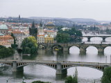 View down the Vltava River Through Prague
