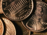 Close View of Several Pennies Dated 1998