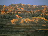 Sunset on the Geological Formations of the Badlands