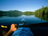 A Kayaker Sails Across This Serene Lake