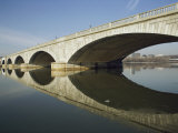 Graceful Arches of the Arlington Memorial Bridge Reflected in the Potomac River