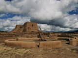 View of the Kiva and Church at Pecos National Historical Park