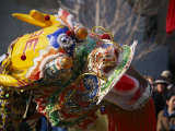 Dancing Dragon in a Chinese New Year Parade