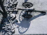 Fresh Snowfall Outlines a Cannon in This Winter View of Gettysburg