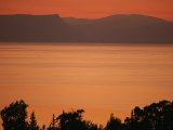 Sunset Paints the Sea of Galilee Orange