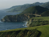 Scenic View of the Bridge over Bixby Creek and the Pacific Coast