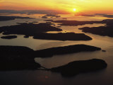 The San Juan Islands at Sunset
