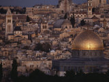 Jerusalem Cityscape Showing the Dome of the Rock and the Church of the Holy Sepulchre
