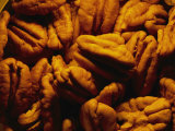 Close View of Shelled Pecans in Warm Light
