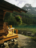 A View of the Rocky Mountains from Lake Ohara Lodge