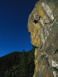 A Rock Climber Solo Climbs in Montanas Hyalite Canyon