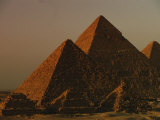 Giza Pyramids from Left- Kings Menkure  Khafre and Khufu