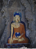 A Painted Stone Buddha Near Lhasa  Tibet