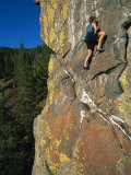 A Rock Climber in Montanas Hyalite Canyon