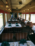 A Dining Car Aboard the Royal Hudson Steam Train